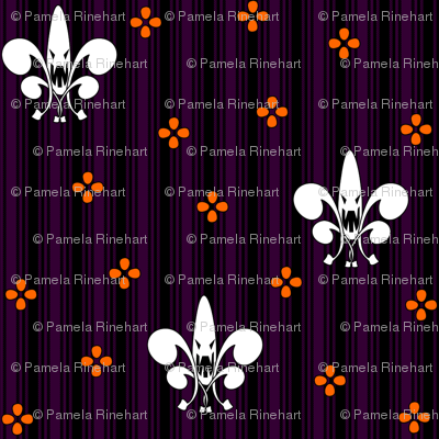 Halloween Fleur de Lis in ghostly ghoul