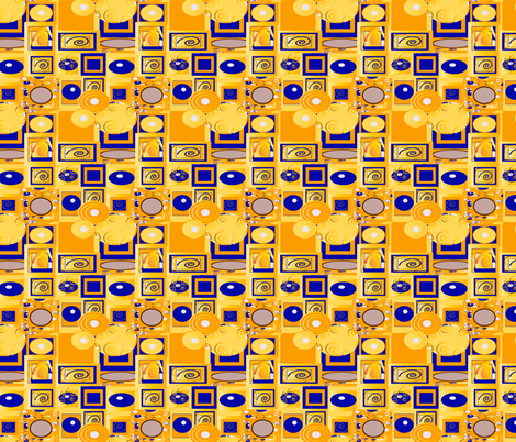 Klimt 12 fabric by kociara on Spoonflower - custom fabric