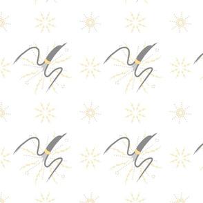 sun grey bird