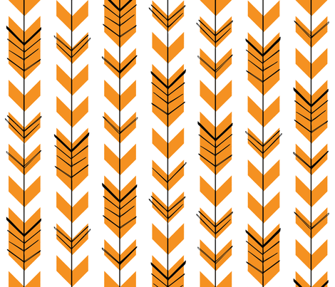 Hallow Fields arrows pumpkin fabric by kennerroad on Spoonflower - custom fabric