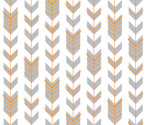 Hallow Fields arrows smoke fabric by kennerroad on Spoonflower - custom fabric