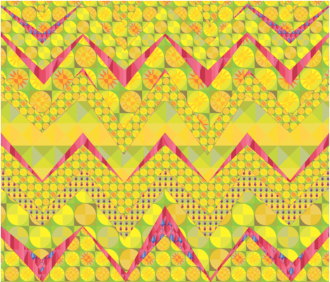The Power of Flowers zig zag No2 fabric by creative_cat on Spoonflower - custom fabric