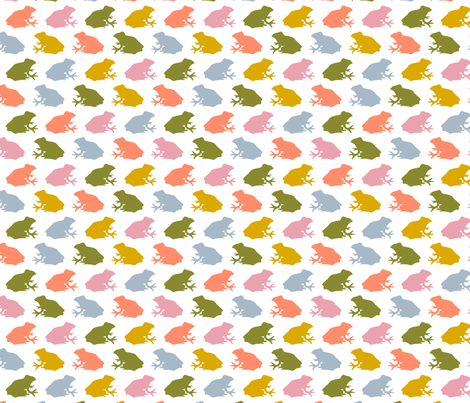 FROG - Multicolour fabric by hitomikimura on Spoonflower - custom fabric