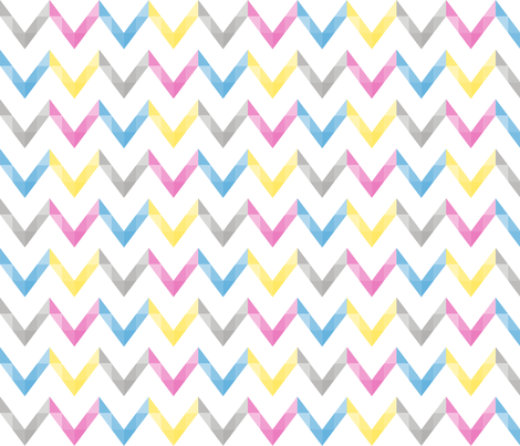 chevron_multi fabric by wendyg on Spoonflower - custom fabric