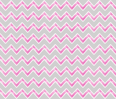 pink and grey chevron fabric by mainsail_studio on Spoonflower - custom fabric