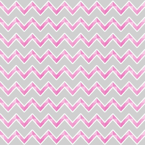 pink and grey chevron
