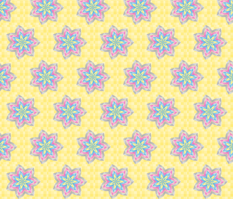 yellow_flowe fabric by wendyg on Spoonflower - custom fabric