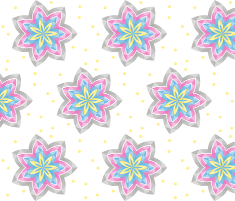 multi_flower fabric by wendyg on Spoonflower - custom fabric