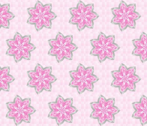 pink flower stars for girls fabric by wendyg on Spoonflower - custom fabric