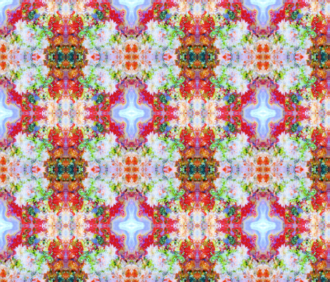 Crystal Spray (Red Lightning Agate) fabric by prettyrockdesigns on Spoonflower - custom fabric
