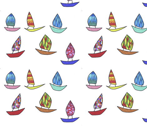 boats_1 fabric by lissisissi on Spoonflower - custom fabric