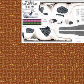 Greyhound Stuffie Panel -  Blue Brindle Spots Male