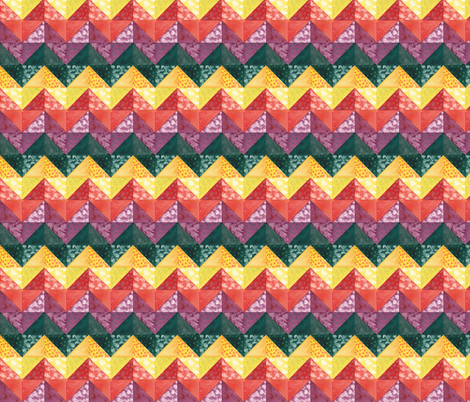 chevron quilt fabric by zandloopster on Spoonflower - custom fabric