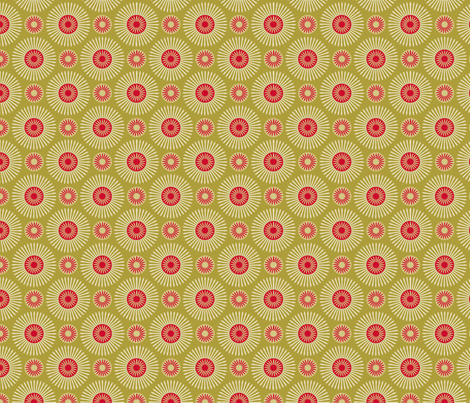 hakea green fabric by cjldesigns on Spoonflower - custom fabric