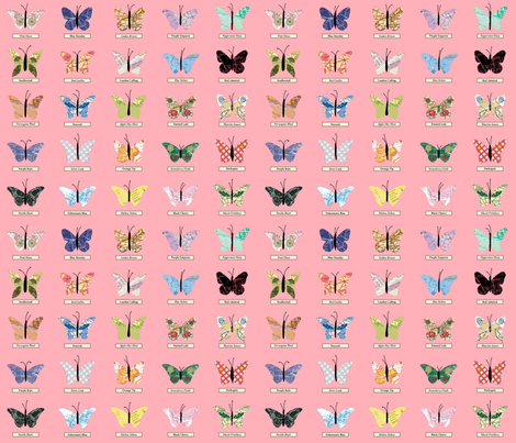 small_butterfly_pink fabric by peppermintpatty on Spoonflower - custom fabric