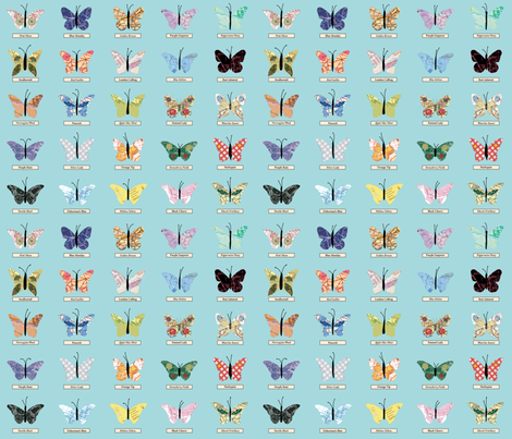 small_butterfly_blue fabric by peppermintpatty on Spoonflower - custom fabric