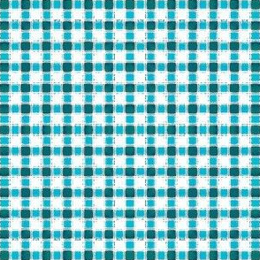 Aqua-Teal Painted Mini-Check (click here to zoom)