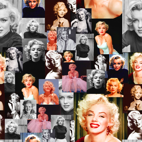 Marilyn Monroe fabric by lusykoror on Spoonflower - custom fabric