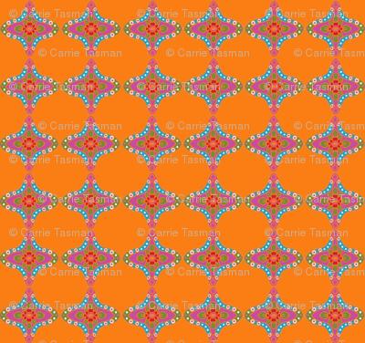 India Matching Orange