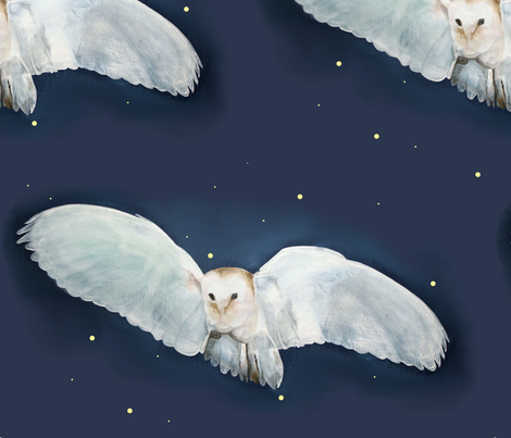 Night Owl fabric by sarah-conrad-ferm on Spoonflower - custom fabric