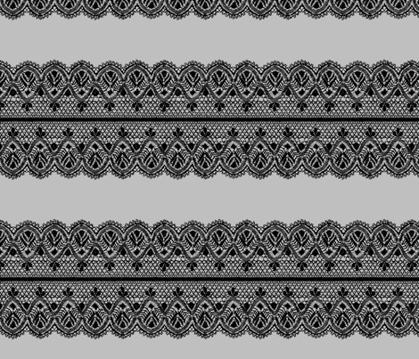 Guipure lace - black and gray fabric by spacefem on Spoonflower - custom fabric