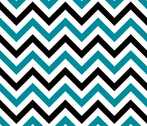 Blue & Black Chevrons fabric by pond_ripple on Spoonflower - custom fabric