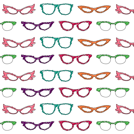 Hipster Nerd Glasses fabric by risarocksit on Spoonflower - custom fabric