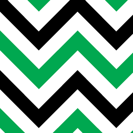 Green & Black Chevrons fabric by pond_ripple on Spoonflower - custom fabric