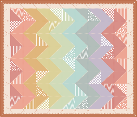 A_Chevron_Rainbow fabric by mrshervi on Spoonflower - custom fabric