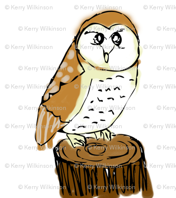 PennyDog Illustration - Barn Owl