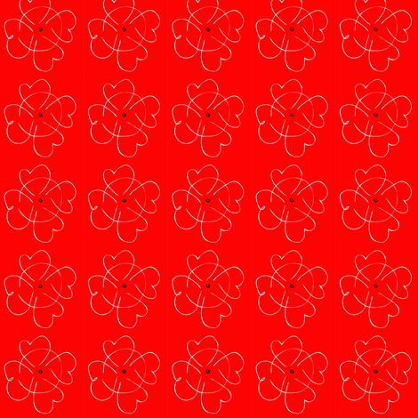 heart flower fabric by pennydog on Spoonflower - custom fabric