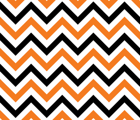 Orange & Black Chevrons fabric by pond_ripple on Spoonflower - custom fabric