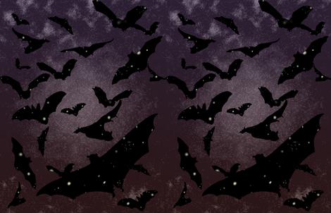 Night Bats fabric by rachael_reichert on Spoonflower - custom fabric