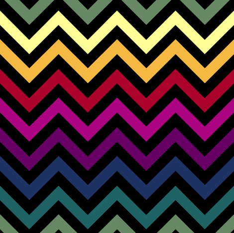 Black & Rainbow Chevrons fabric by pond_ripple on Spoonflower - custom fabric