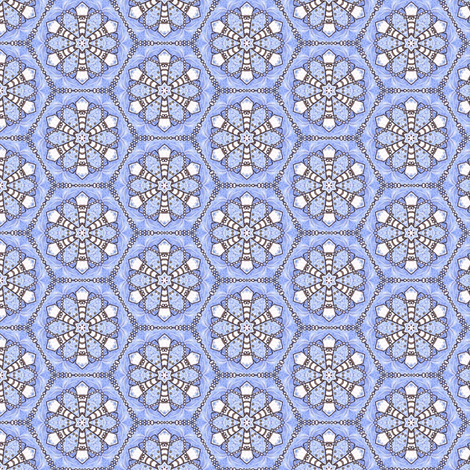 Pearl Snowflake Hexagons fabric by siya on Spoonflower - custom fabric