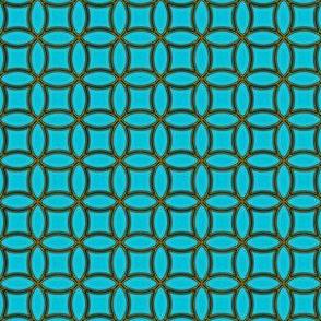 Bronze Rings   -aqua