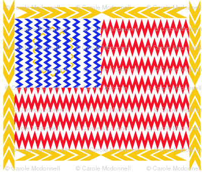 Chevron Stars and Stripes