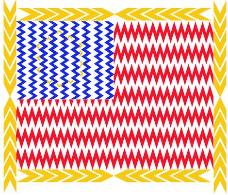Chevron Stars and Stripes fabric by scifiwritir on Spoonflower - custom fabric