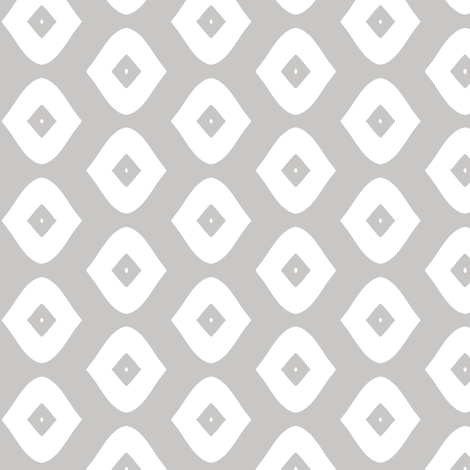 Diamond Girl (grey) fabric by pattyryboltdesigns on Spoonflower - custom fabric