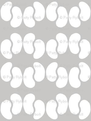 Kidney Bean Dance (dove & white)