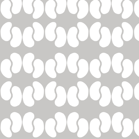 Kidney Bean Dance (dove & white) fabric by pattyryboltdesigns on Spoonflower - custom fabric
