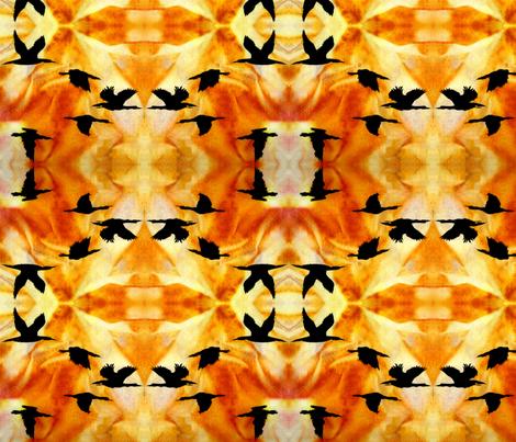 Cormorants at Sunset by Sylvie_ Art on Fabric fabric by art_on_fabric on Spoonflower - custom fabric