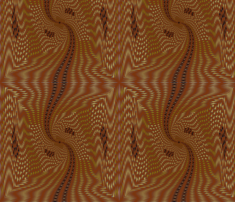 Aboriginal Walk (Red Clay) fabric by david_kent_collections on Spoonflower - custom fabric