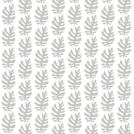 Funky Leaf (dove grey) fabric by pattyryboltdesigns on Spoonflower - custom fabric