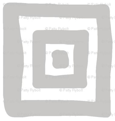 Retro Wonky Square (grey)
