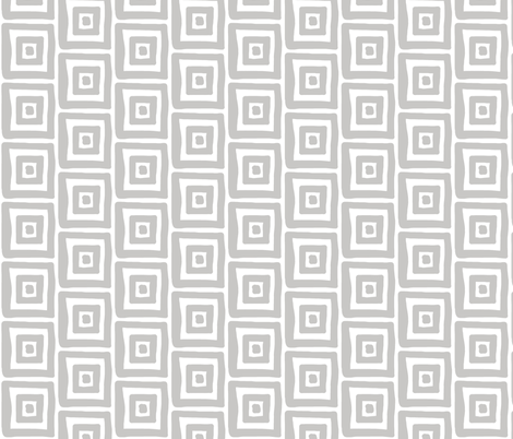Retro Wonky Square (grey) fabric by pattyryboltdesigns on Spoonflower - custom fabric