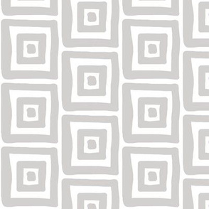 Retro Wonky Square (grey)