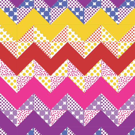 zigzag fabric by greenpistachio on Spoonflower - custom fabric