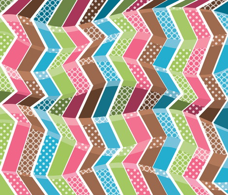 Meandering Chevrons fabric by sew-me-a-garden on Spoonflower - custom fabric