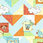 children's animal ABC quilt